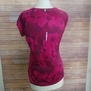Nike dri fit top exercise pink black M